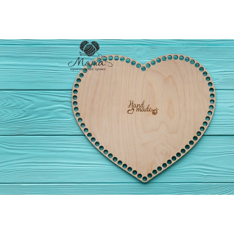 Wooden bottoms for baskets-Heart 30cm