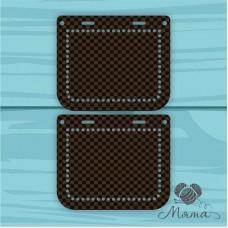 Plastic bag set: 2 sidewalls 20 * 10 cm + plank 23*4 cm BP_20#82