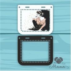 Plastic bag set: 2 sides 25*21 with frame cm BP_25#83