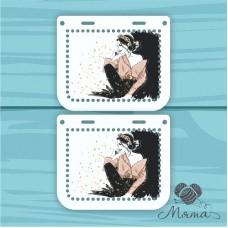 Plastic bag set: 2 sidewalls 20 * 10 cm + plank 23*4 cm BP_20#83