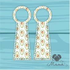 Plastic bag set: 2 pieces with round handles 13.5*40 cm BP_40#53
