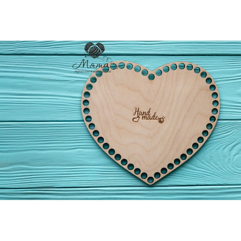 Wooden bottoms for baskets-Heart 21cm