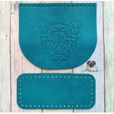 Valve 20 * 17 cm + bottom 20 * 9 cm Panther emerald