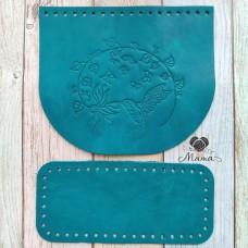 Valve 20 * 17 cm + bottom 20 * 9 cm Hummingbird emerald
