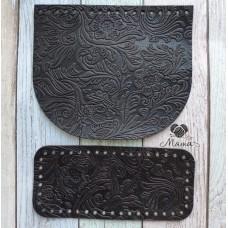 Valve 20*17 cm + bottom 20*9 cm (nat. leather) chocolate Valve 20*17 cm + bottom 20*9 cm (nat. leather) green flowers