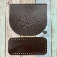 Valve 20*17 cm + bottom 20*9 cm (nat. skin) dragonfly chocolate