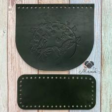 Valve 20*17 cm + bottom 20*9 cm (nat. leather) hummingbird black