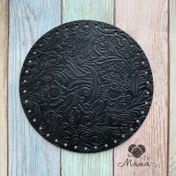 Circle-sidewall 20 cm for bag Flowers Black