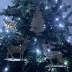 Christmas set of three items (Christmas Tree+ 2 Deer)