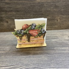 Napkin holder 12 mm No. 5 Cake with berries