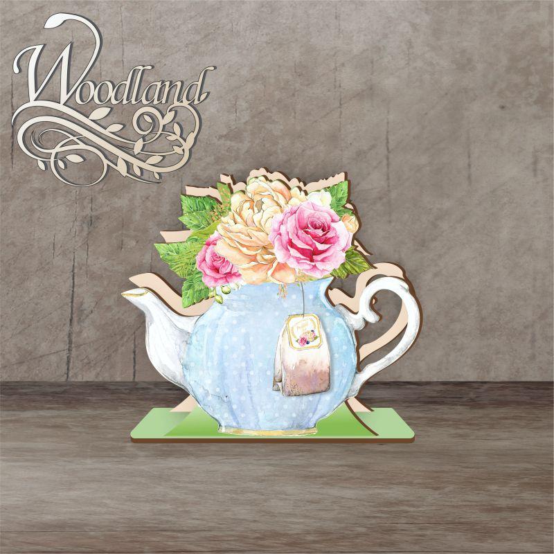 Napkin holder 12 cm No. 3 Blue teapot