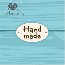 """Oval """"Hand made"""" - 3*5cm No. 82"""