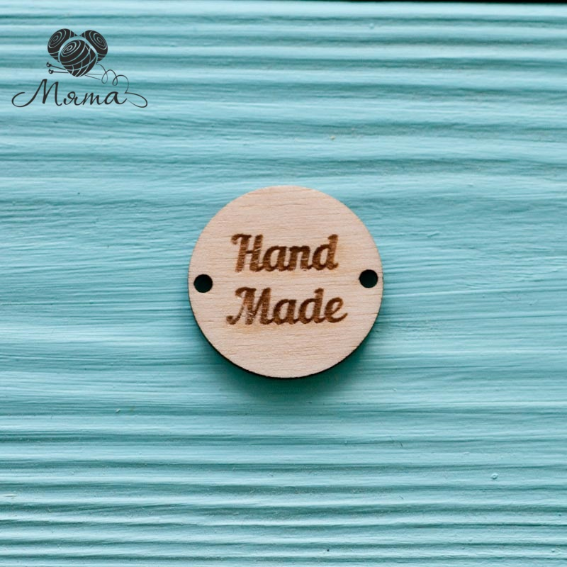 "Circle ""Hand made"" - 3 cm"