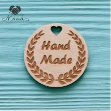 "Circle ""Hand made""  - 5  cm"