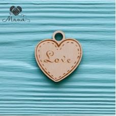 "Heart ""Love"" - 4 cm"