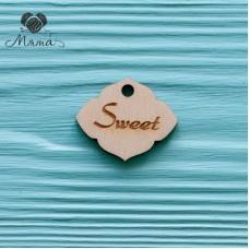 """Sweet"" tag-3 cm"