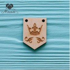Crown-coat of arms-4 cm