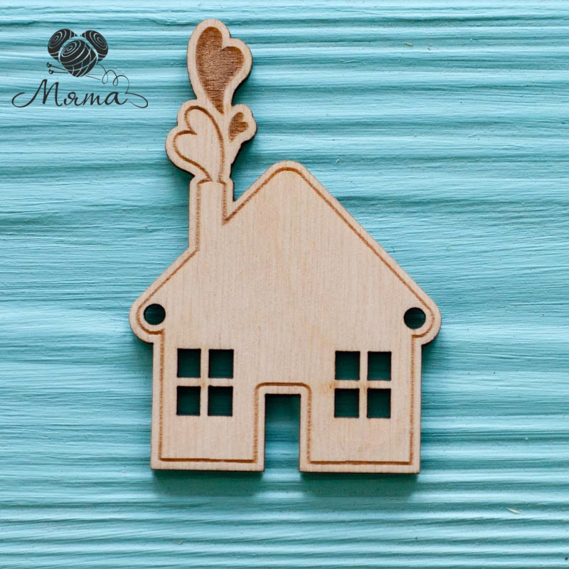 House with hearts-7 cm