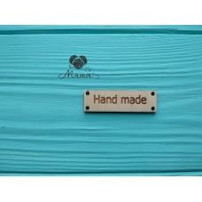 "Rectangle ""Hand made"" - 5*1.5 cm"