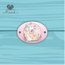 Suspension Oval 5 * 7 cm with color print No. 14