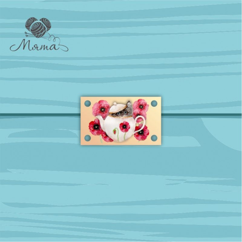 Pendant Rectangle 3 * 5 cm with color print No. 48