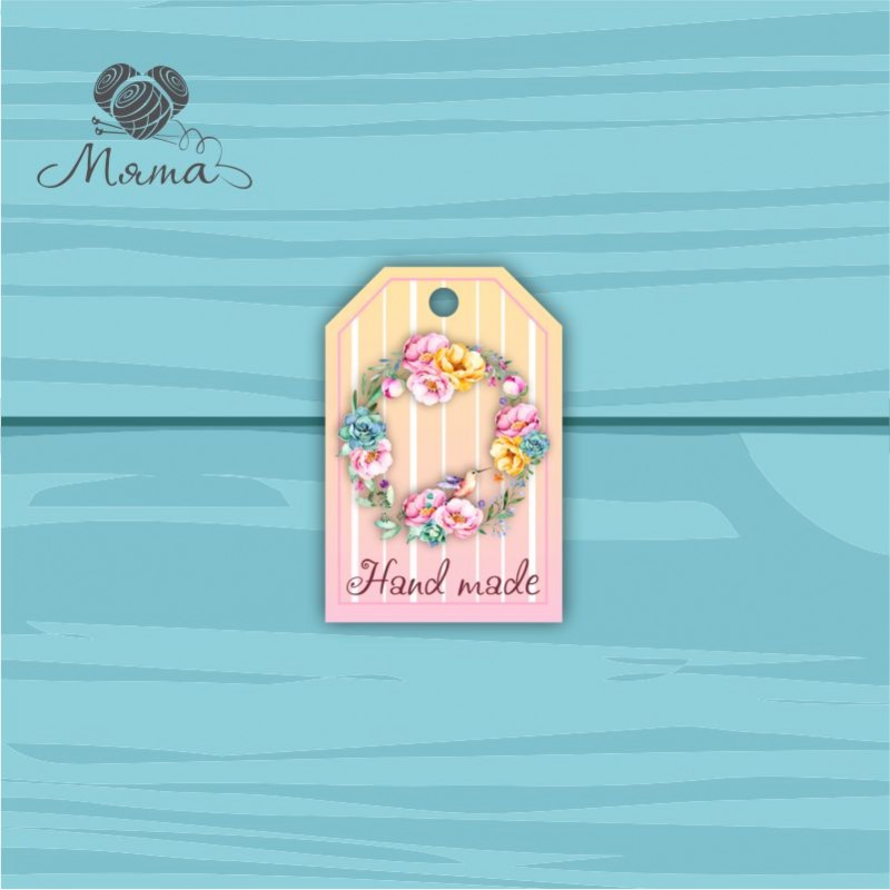 Pendant Rectangle 4 * 6 cm with color print No. 29