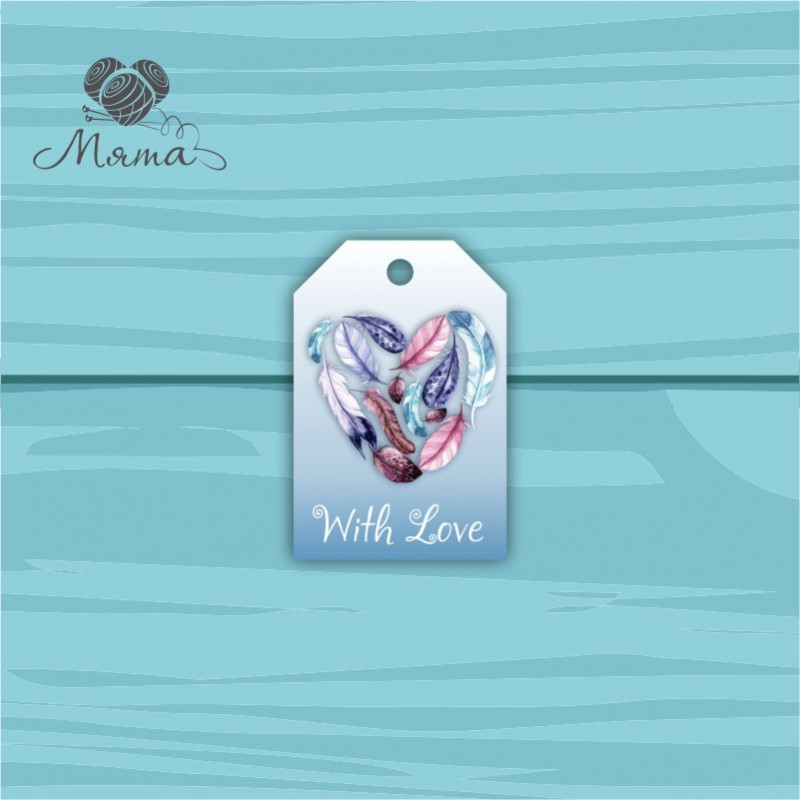 Pendant Rectangle 4 * 6 cm with color print No. 33