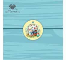 Pendant Circle 5 cm with color print №116