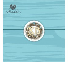 Pendant Circle 5 cm with color print №117