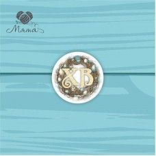 Pendant Circle 5 cm with color print №117