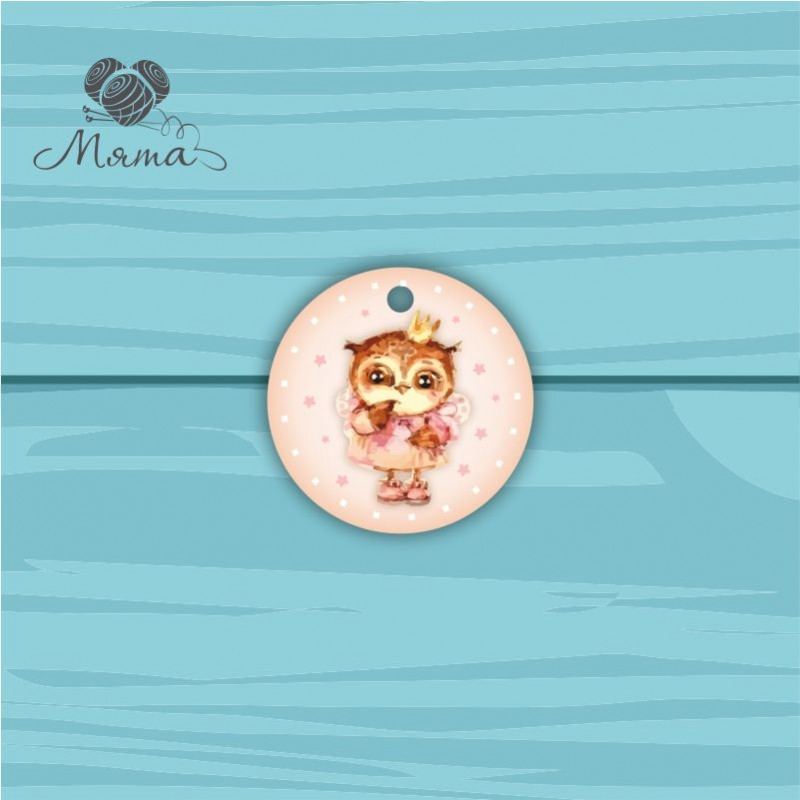 Pendant Circle 5 cm with color print №70