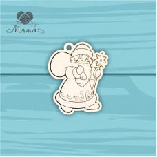 Santa Claus with gifts №13 - 7 cm