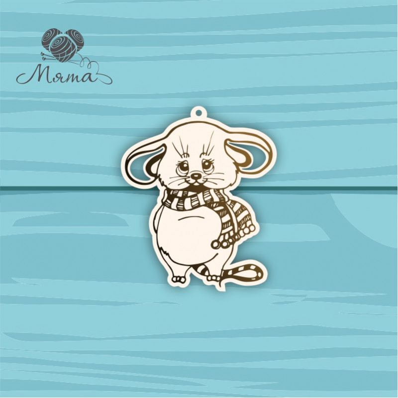 Mouse with scarf №7 - 7 cm