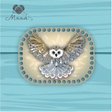 Rectangle with rounded edges d = 20 * 15cm CP20_15№45 Owl