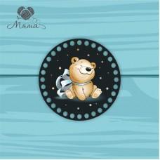 Circle d = 15cm TsP15№64 Satisfied Bear