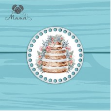 Circle d = 15cm TsP15№116 Wedding Cake