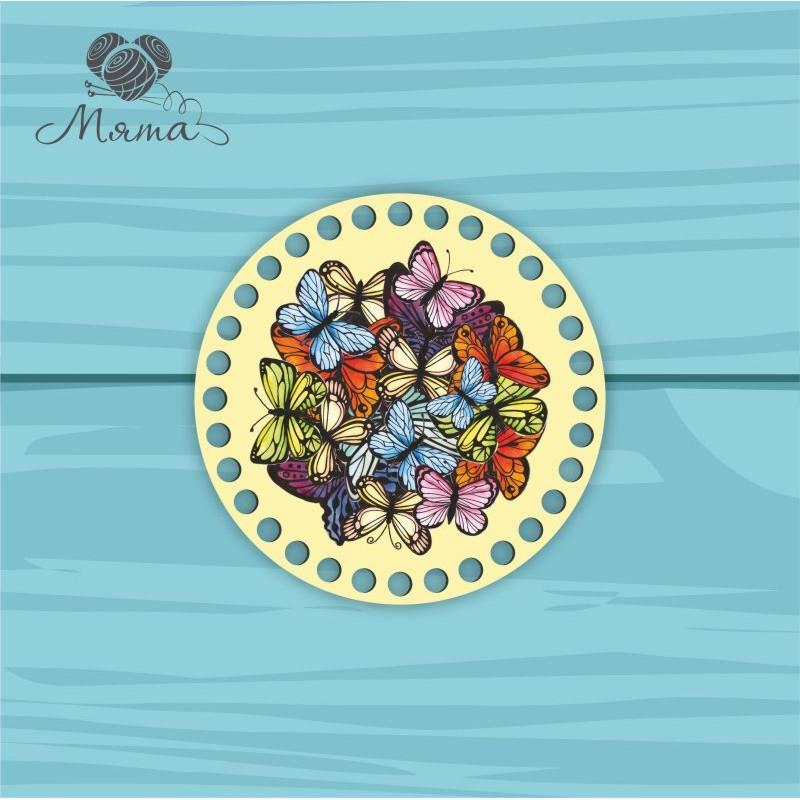 Circle d = 15cm CP15№2 Multicolored butterflies