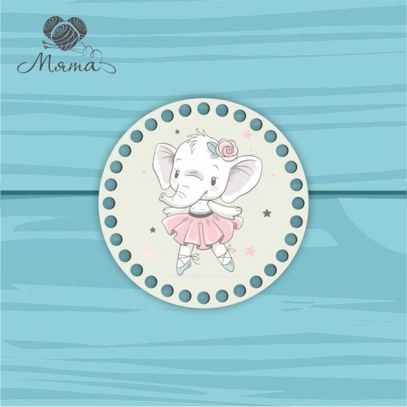 Circle d = 15cm TsP15№39  Elephant ballerina