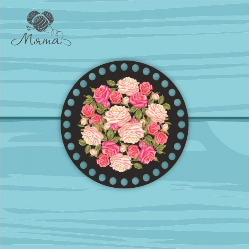 Circle d = 15cm TsP15№4 Flowers