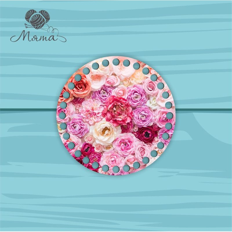Circle d = 15cm TsP15№5 Flowers pink