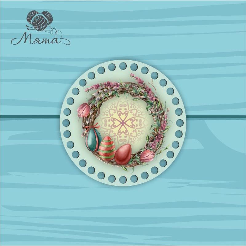 Circle d = 15cm TsP15№56 Wreath with eggs