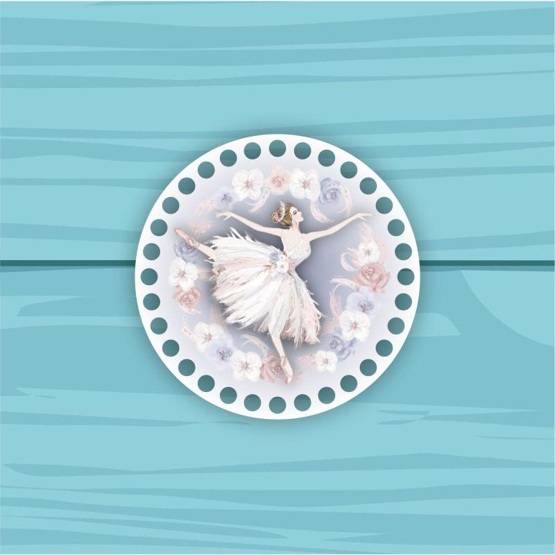 Circle d = 15cm TsP15№61 adult ballerina