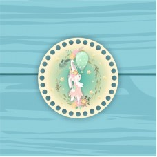 Circle d = 15cm TsP15№65 Bunny with a ball