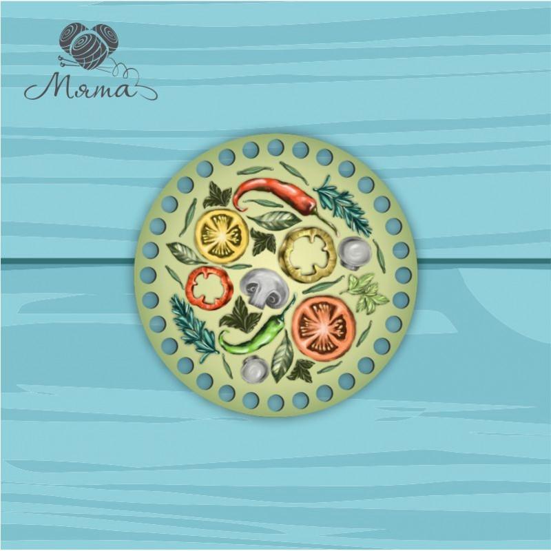 Circle d = 15cm ЦП15№81 Vegetables