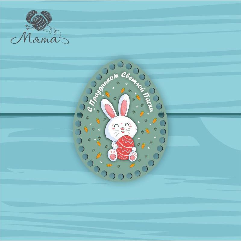 Egg 18 * 14cm TsP18№34 Hare with an egg