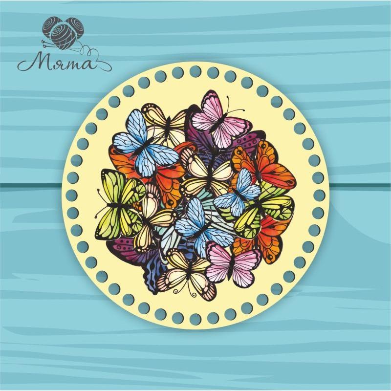 Circle d = 20cm CP20№2 Multicolored butterflies