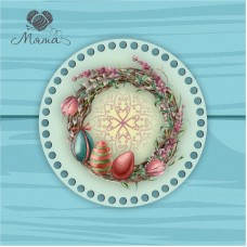 Circle d = 20cm TsP20№56 Wreath with eggs