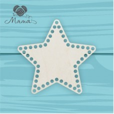 Wooden basket bottoms-Star 20cm without engraving