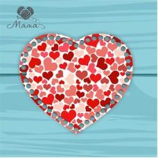 Heart 21cm TsP21№28 Hearts