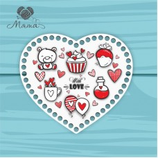 Heart 21cm TsP21№30 With love